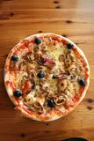 Seafood pizza Royalty Free Stock Images