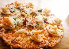 Seafood pizza Royalty Free Stock Photos
