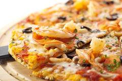 Seafood Pizza Stock Image