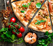 Seafood pizza Royalty Free Stock Image