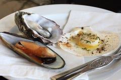 Seafood Plate stock photos
