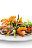 Seafood Plate Royalty Free Stock Images