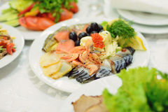 Seafood Plate Stock Image