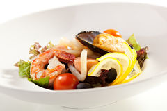 Seafood Plate Stock Photo