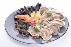 Seafood platter Stock Photos