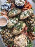 Seafood platter royalty free stock photos