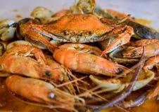 A seafood platter close up. Stock Photo