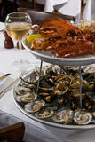 Seafood Platter For Two Royalty Free Stock Photo
