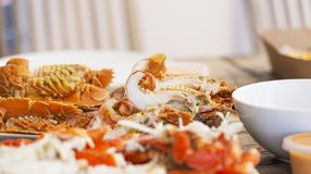 Moreton Bay Bugs. Seafood platter of Moreton Bay Bugs and other crustacea for outdoor lunch Royalty Free Stock Images