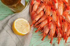 Seafood platter with shrimps Royalty Free Stock Photography