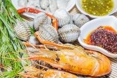Seafood platter Stock Image