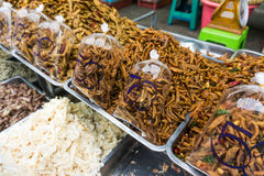Seafood post product market in local fishery village Royalty Free Stock Photo
