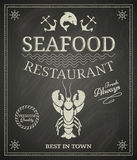 Seafood Poster Stock Image