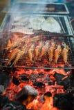 Seafood Prawn Shrimp barbecue Stock Photo