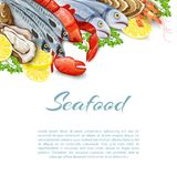 Seafood Products Background vector illustration