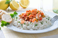 Seafood ragout Stock Photos