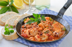 Seafood ragout Stock Photography