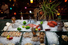 Seafood at a restaurant Stock Photo
