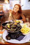 Seafood restaurant stock images