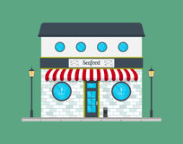 Seafood restaurant building facade or front. Stock Photography
