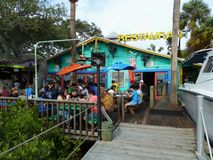 seafood restaurant on the coast Stock Images