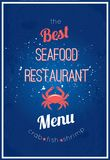Seafood restaurant menu Stock Photography
