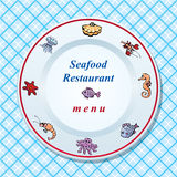 The seafood restaurant menu design Royalty Free Stock Images