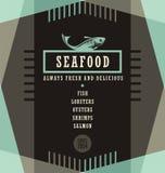 Seafood restaurant menu design template Stock Photography