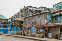 Seafood restaurant and a souvenir shop in Cedar Key, Florida Royalty Free Stock Images