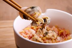 Seafood rice. Royalty Free Stock Images
