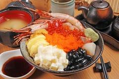 Seafood rice bowl Stock Photo