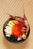 Seafood rice bowl Stock Photos