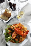 Seafood rice paella style Royalty Free Stock Photos