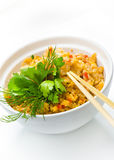 Seafood and rice. Royalty Free Stock Photography