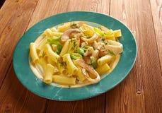 Seafood with Rigatoni Pasta Royalty Free Stock Photo
