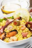 Seafood risotto Stock Image