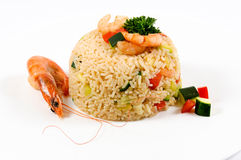 Seafood risotto Royalty Free Stock Photos