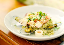 Seafood Risotto Stock Photography