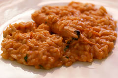 Seafood Risotto Closeup Royalty Free Stock Images