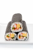 Seafood Rolled sushi Stock Images
