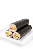 Seafood Rolled sushi Royalty Free Stock Image
