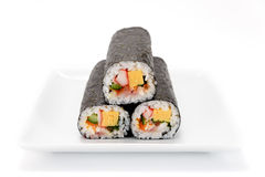 Seafood Rolled sushi Royalty Free Stock Photos