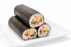 Seafood Rolled sushi Royalty Free Stock Images