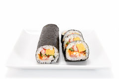 Seafood Rolled sushi Royalty Free Stock Photography