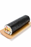Seafood Rolled sushi and soy Royalty Free Stock Image