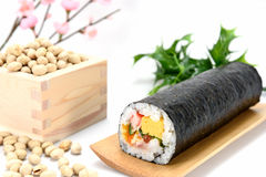 Seafood Rolled sushi and soy Stock Photos