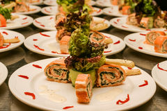 Seafood rolls Stock Image