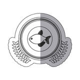 Seafood round stamp Royalty Free Stock Photo