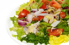 Seafood salad royalty free stock images