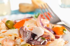 Seafood salad Stock Photos